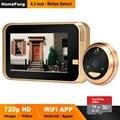 HomeFong Smart видео глазок беспроводной дверной звонок Камера Беспроводной видео-телефон двери для дома с Широкий формат ИК обнаружения движени...