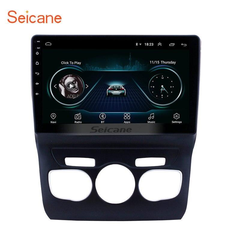 Seicane 10.1 pouces écran tactile hd Android 8.1 Système de navigation gps Bluetooth Radio pour 2013 2014 2015 2016 Citroen C4 CFC