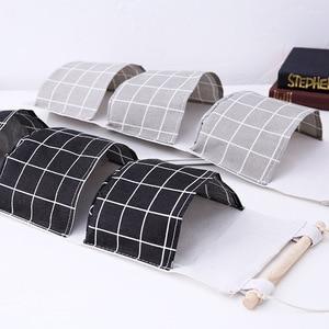 Image 2 - Originality Cotton Waterproof Organizer Storage Bag 3 Layer Hanging Pocket Lattice Cloth Door Back Accept Vakuum Bag Clothes