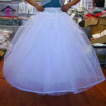 Popodion Wedding Accessories Black Petticoat Woman Boneless 4 layers Wedding Bustle N1037