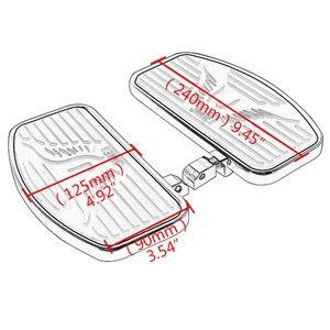 Image 5 - Stainless Steel Black Rubber Front Passenger Footboards Hardware Kit Fit For Honda Shadow VT400 750 750C 750DC 1997 2003