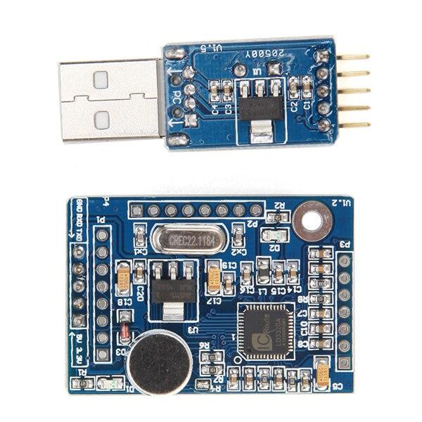 CLAITE 1pc 5V Speech Voice Recognition Module Voice Board VRM LD3320 ASR Power 43 X 29.7mm
