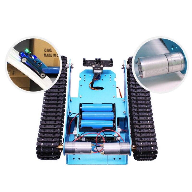 Kit de tanque de coche FBIL Robot para vehículo Robot de chasis de tanque inteligente programable Arduino, juguete educativo inteligente para niños - 4