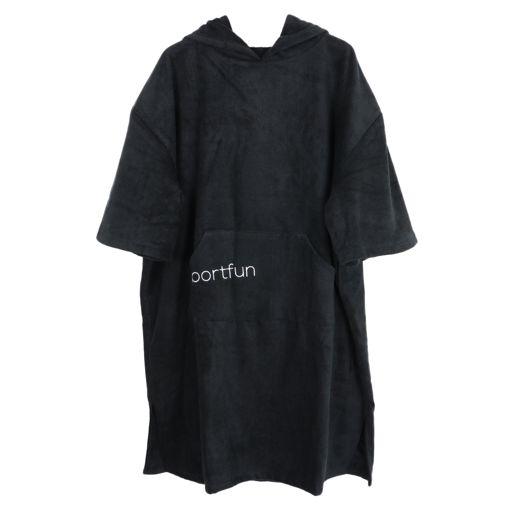 Women Men Microfiber Wetsuit Changing Robe Poncho With Hood Quick Dry Swim Beach Pool Surf Towel Compact & Lightweight Bathrobe