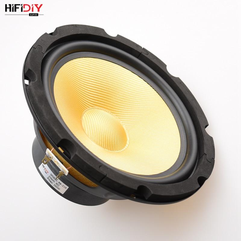 HIFIDIY LIVE HIFI speakers DIY 8 inch 8 Midbass Woofer speaker Unit 4 8 OHM 160W Glass fiber vibratory basin Loudspeaker K8-210HIFIDIY LIVE HIFI speakers DIY 8 inch 8 Midbass Woofer speaker Unit 4 8 OHM 160W Glass fiber vibratory basin Loudspeaker K8-210