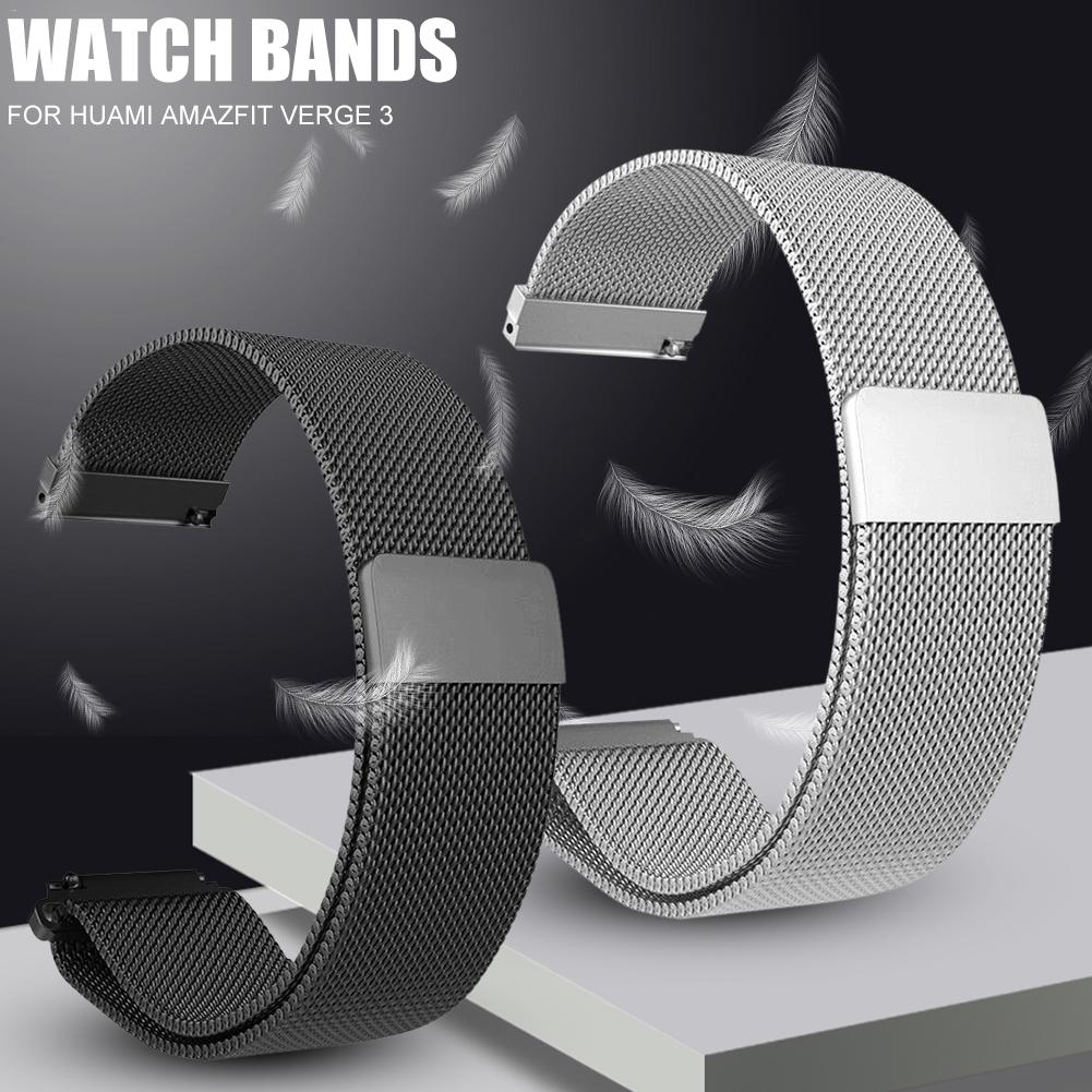 Image 2 - Metal Milanese Loop Watch Bands Magnetic Adsorption Wristband Durable Strap For Xiaomi For Huami Amazfit Verge Metal Milanese-in Smart Accessories from Consumer Electronics