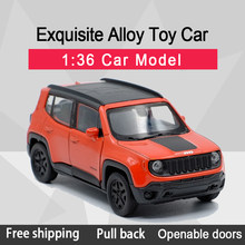 WELLY 1:36 Renegade Trallhawk Alloy Diecast Car Model Toy With Pull Back For Children Gifts Toy Collection(China)