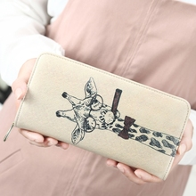Women Wallet Ladies Long Cute Cartoon Bag Zipper Paragraph Womens Purse
