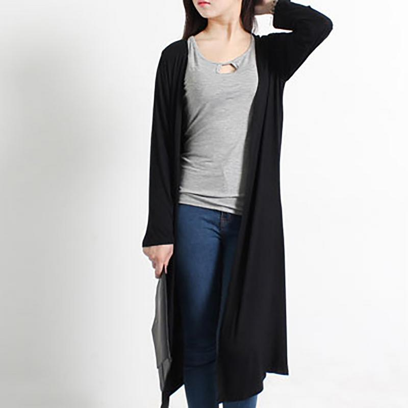 9 Colors Women's Casual Long Modal Cotton Soft Simple Color All Year Round Free Size Loose Thin Cardigan