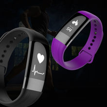 Bluetooth BT Smart Band Bracelet Fitnees Tracker Blood Pressure Heart Rate Monitor Smartband IP67 Waterproof For Android IOS(China)