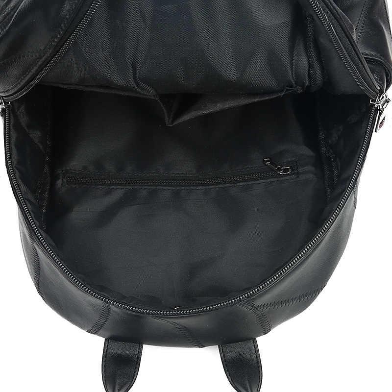 Witfox genuíno bolsa de couro pacote de saco de escola Estilo Preppy Mochila para a faculdade realizar livro pacote sac femme transparente sacos