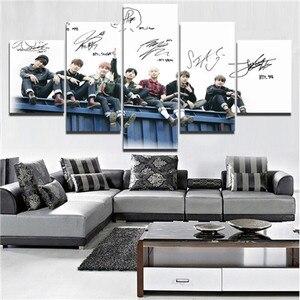 5 Pieces HD Print Large BTS Ba