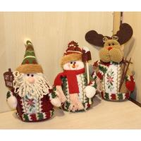 Christmas Decorations Doll Sitting Christmas Santa Claus Snowman Figure Plush Toy Dolls Christmas Tree Decor Party Gift