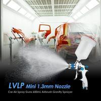 Alloet LVLP Mini 1.3mm Nozzle Air Spray Guns 600mL Airbrush Gravity Sprayer Car Furniture Painting Spraying Tool aluminum alloy