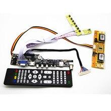 """טלוויזיה + HDMI + VGA + AV + USB + אודיו טלוויזיה LCD נהג לוח 19 """"M190A1 L0A/L02 m190PW01 V0 LM190WX1 TLC1 1440*900 LCD בקר לוח DIY ערכות"""