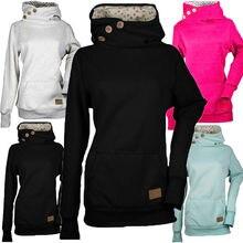 Женские зимние теплые толстовки, толстовка с капюшоном, женская верхняя одежда с капюшоном, пуловер, топы, S-3XL