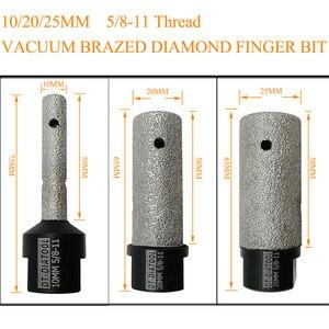 Image 3 - Brocas de diamante soldado al vacío para dedo, DT DIATOOL de 10/20/25mm de diámetro, rosca de 5/8 11 o M14, para granito de mármol y porcelana, 1 unidad