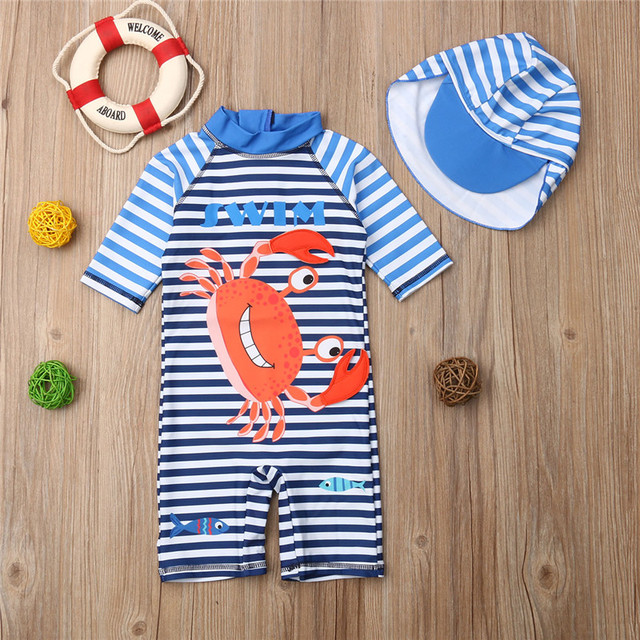 9e1dbe103ec8 2019 New Boys Swimsuits In Children's Clothes Kids Boy Sun Protective  Swimwear Guard Costume Bathing Suit Sunscreen Diving Suit