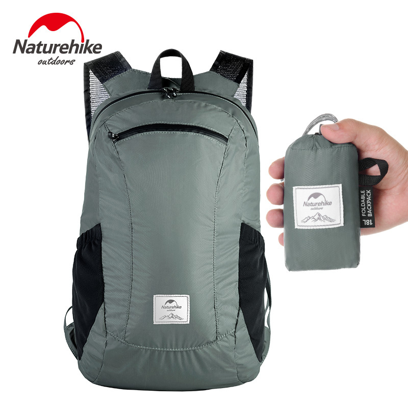 NatureHike 18L Foldable Lightweight Silicon Waterproof Backpack Ultralight Outdoor Bags For Camping  Hiking Backpacking Cycling