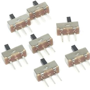 20 sztuk przerywacz on-off mini przełącznik suwakowy SS12D00 SS12D00G3 3pin 1P2T 2 pozycja wysokiej jakości przełącznik dwupozycyjny długość rękojeści 3MM tanie i dobre opinie Przełączniki ROHS Mikroprzełącznik Z tworzywa sztucznego