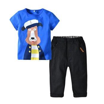 cffe88ecb340 Oklady/Модный комплект одежды для мальчиков, футболка, джинсовый летний  костюм, детский спортивный костюм, одежда для маленьких мальчиков и де.