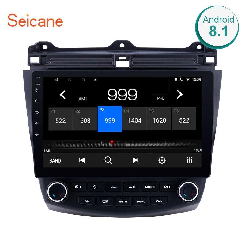 Seicane 10,1 1024*600 сенсорный экран Quad-core 2DIN Android 7,1/8,1 Bluetooth FM радио gps навигации для 2003-2007 Honda Accord 7