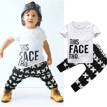 2 pieces Short Sleeve T Shirt Top and Pant Set For Toddler Boy Summer Boys Clothing Sets, Toddler Boy Suit Set, Newborn Baby Boy Sets, Baby Boy Outfit Sets