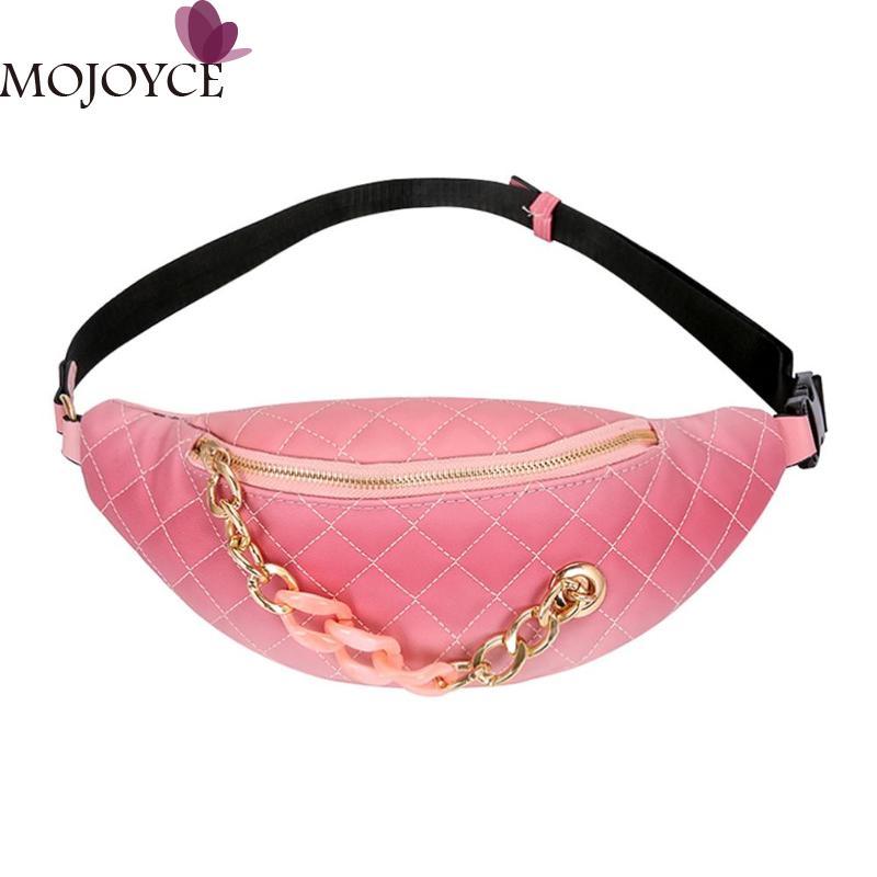 2019 Fashion Shoulder Waist Bags Women PU Leather Fanny Packs Belt Bum Phone Pouch Chest Handbags Girls Multicolor Chest Handbag