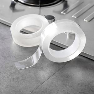 Image 5 - ウォールコーナーラインステッカーセラミックステッカー pvc 防水テープ浴室アクセサリー自己粘着透明ステッカー
