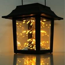 LED Solar Powered Light Outdoor Garden Yard Hanging Lantern Landscape Lamp