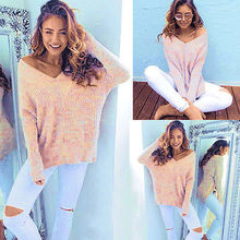 2019 Hot New Ladies Womens Sexy Plain Oversized Baggy Knitted Jumper Chunky Sweater Top
