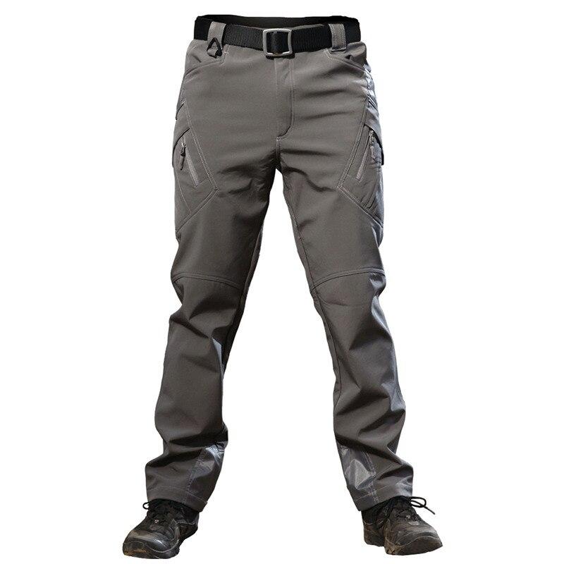 Sports de plein air réflexion de la chaleur coque souple pantalon tactique hommes entraînement de Combat escalade chasse randonnée imperméable pantalons chauds