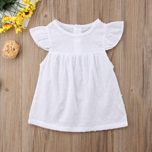 Kids Infant Baby Girls Tutu Dresses Spotted Fly Sleeve Sundress Dress Clothes цена в Москве и Питере