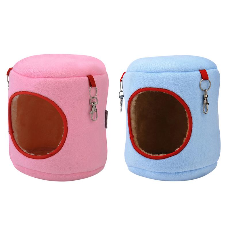 Hot Hamster Cage House Cylindrical Hanging Nest Cute Hammock Cotton Bed For Small Pets Hamsters Squirrel Guinea Pigs Chinchillas