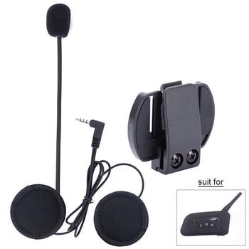 Wired Headset MicSpeaker+Clip mount for V6 Motorcycle Bluetooth Helmet Intercom