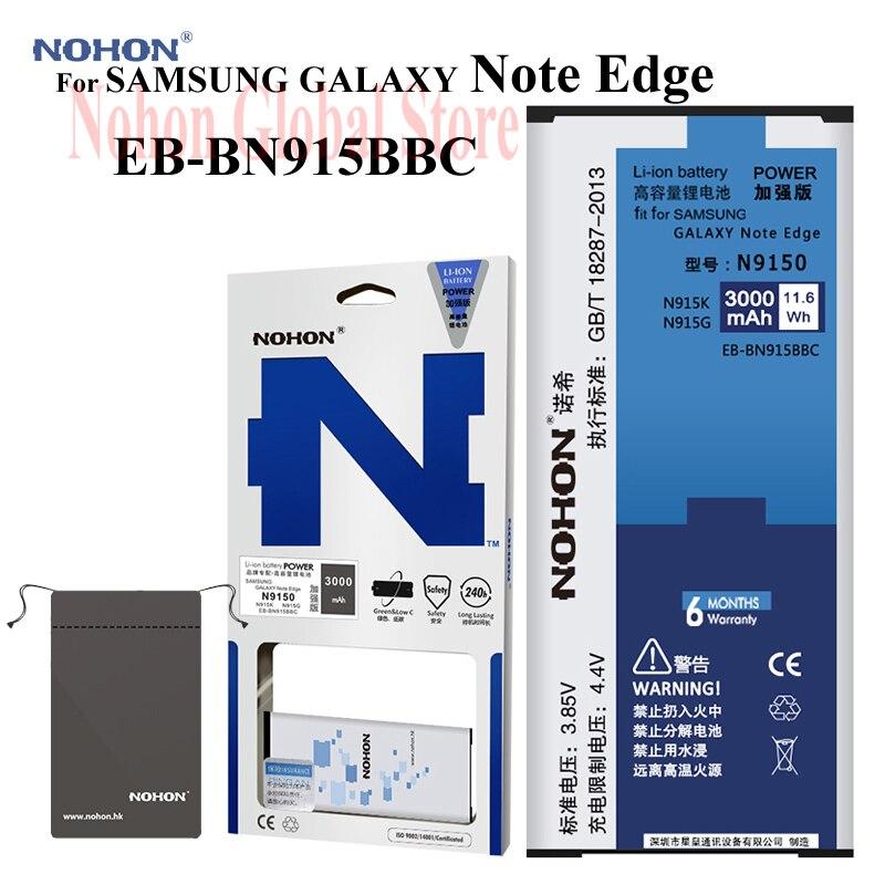 Original 3000mAh NOHON Battery For SAMSUNG GALAXY Note Edge N9150 N915K N915L N915S N915X GALAXY Note Edge EB-BN915BBC BatteriesOriginal 3000mAh NOHON Battery For SAMSUNG GALAXY Note Edge N9150 N915K N915L N915S N915X GALAXY Note Edge EB-BN915BBC Batteries