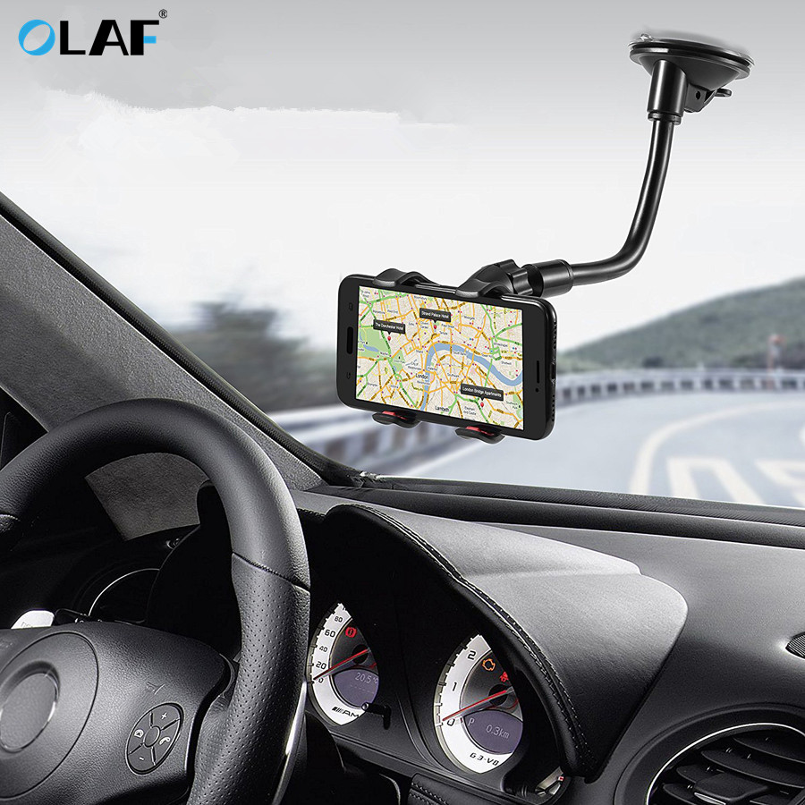 Olaf Luxury Car Phone Holder For IPhone X XS 8 7 Plus Windshield Car Mount Phone Stand 360 Car Holder For Samsung S9 S8 Note 9