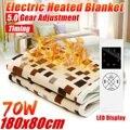 Электрическое одеяло более плотный обогреватель 180*80 см регулируемое Температурное подогреваемое одеяло термостат Электрический ковер с п...