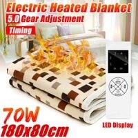 غطاء كهربائي سمكا سخان 180*80 cm قابل للتعديل درجة الحرارة بطانية صوف كهربية ترموستات التدفئة الكهربائية السجاد الجسم دفئا