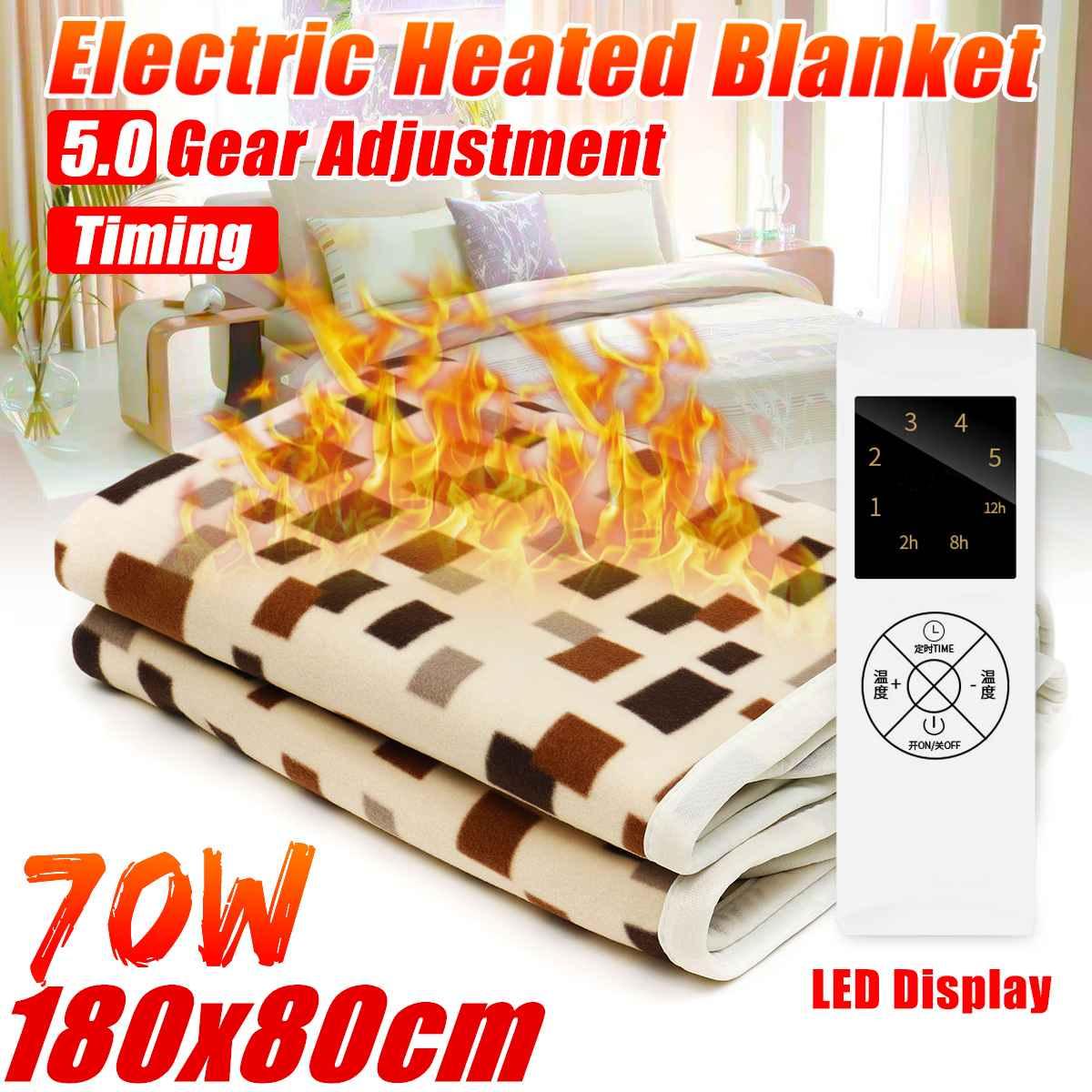 Selimut Listrik Lebih Tebal Heater 180*80 Cm Yang Dapat Suhu Air Hangat Selimut Termostat Pemanas Listrik Karpet Tubuh Hangat