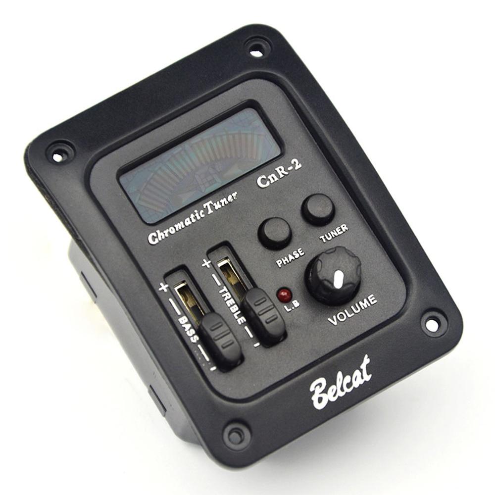 Belcat CnR-2 2 bandes EQ guitare pick & Tuner Phase S/W pour Anti Feedback basse aigus 2 bandes égaliseur préampli coloré écran LCD