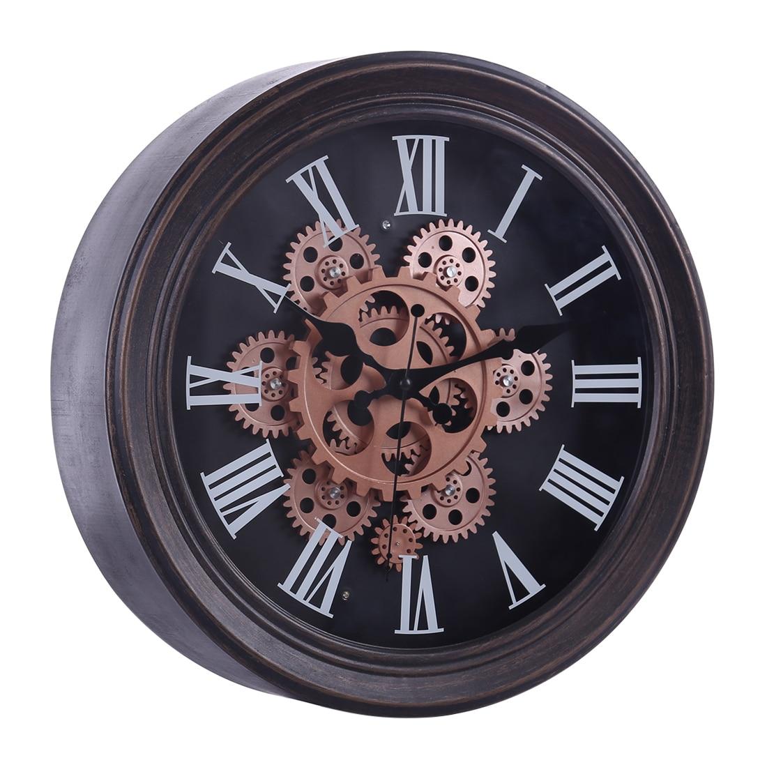 Gear Mute Retro Wall Clock