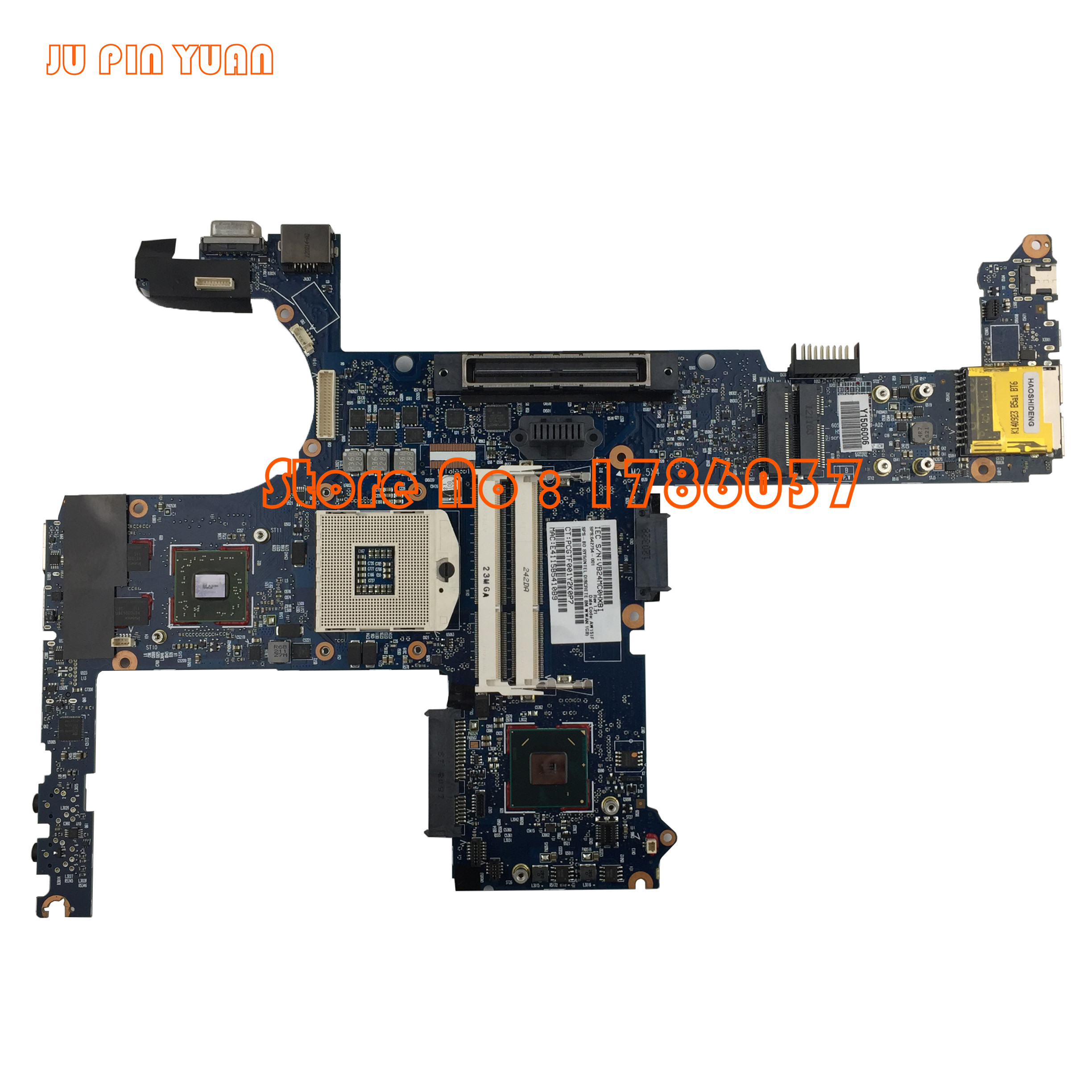 JU PIN YUAN 642754 001 6050A2398501 MB A02 For HP EliteBook 8460P 6460B Laptop Motherboard All