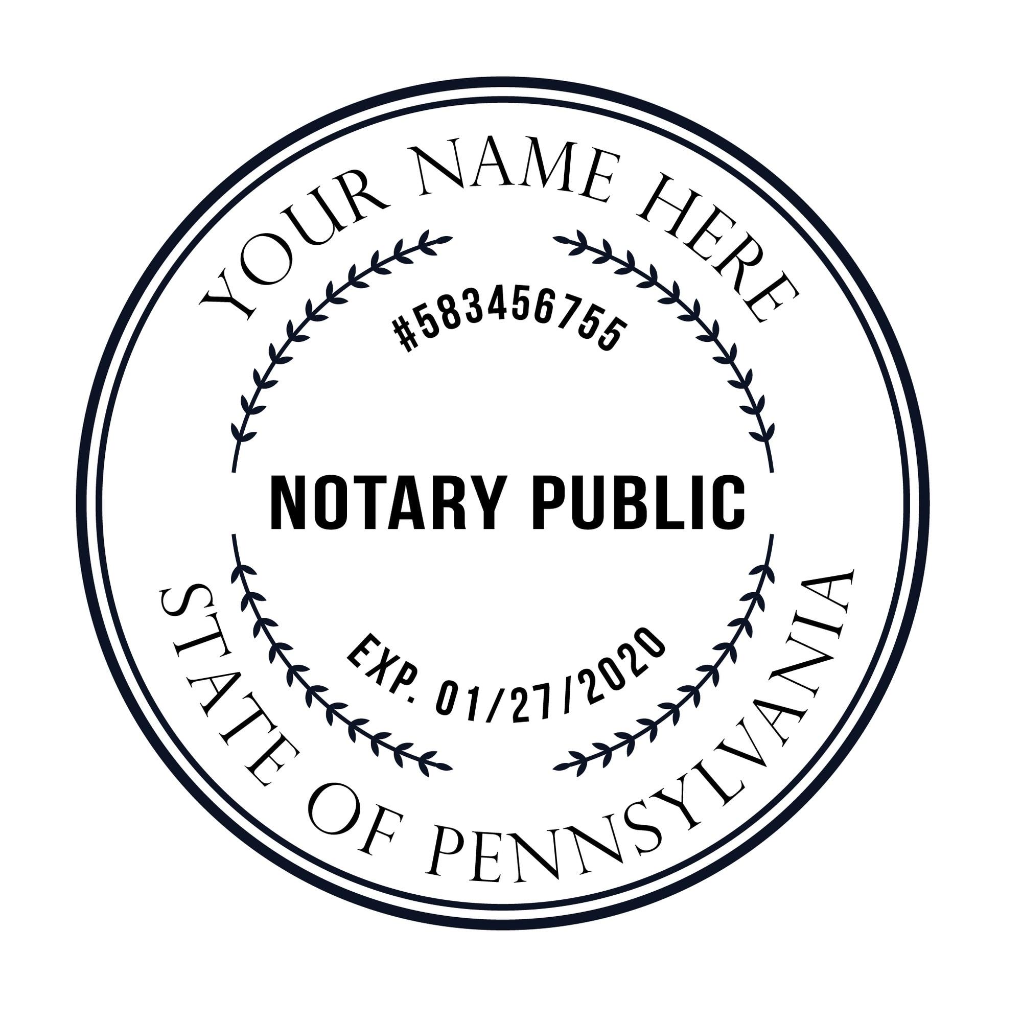 bbloop rodada notario selo para o estado de penn