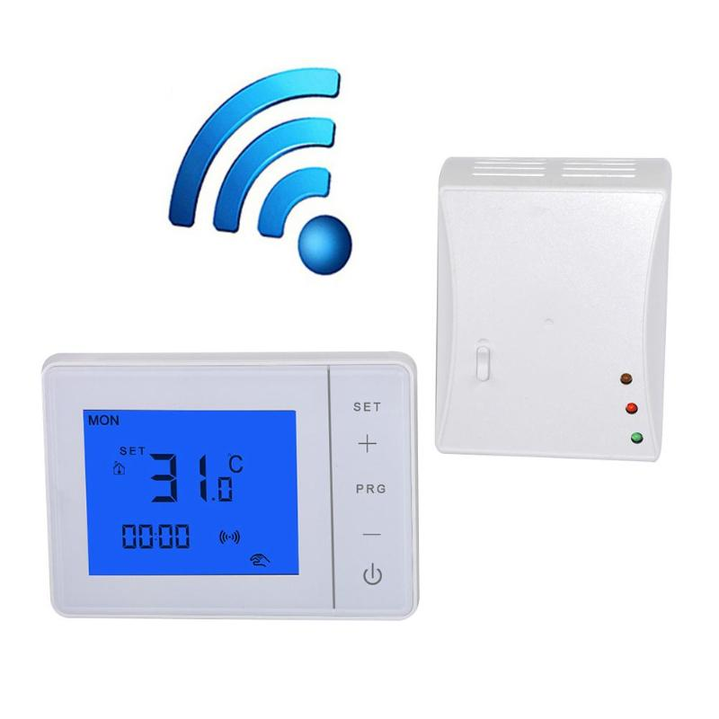 433MHZ Wireless Remote Control Smart LCD Programmable Thermostat Electric Heating Temperature Controller Touch Digital Display
