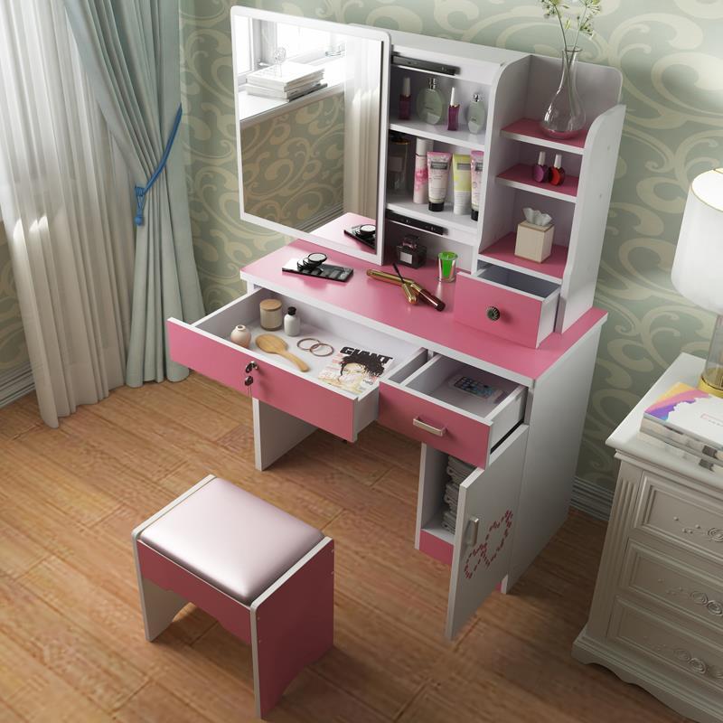 Commode Coiffeuse Avec Miroir dortoir Toaletka Tocador Chambre ensemble bois coréen Chambre meubles Penteadeira Coiffeuse