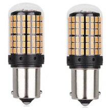 2PCS Car Light Signal Lamp 1156 BA15s P21W Led Led Turn Brake Light Tail Lamp 144SMD 3014 LED Auto Rear Reverse Bulb цена в Москве и Питере