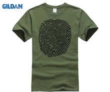 GILDAN 2018 Fingerprint T-Shirt Forensic Science Ink Graphic Tee