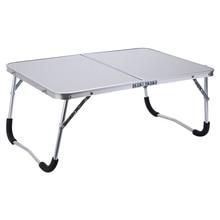Регулируемая портативная настольная подставка для ноутбука складной компьютерный стол для чтения кровать лоток, белый