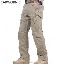 CARWORNIC IX9 Tactical Cargo Pants Men City Army Military Pants Cotton Many Pockets Causl Stretch Flexible Man Casual Trousers